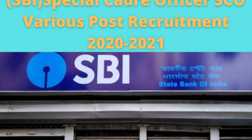 State Bank of India Recruitment 2020 Online Form